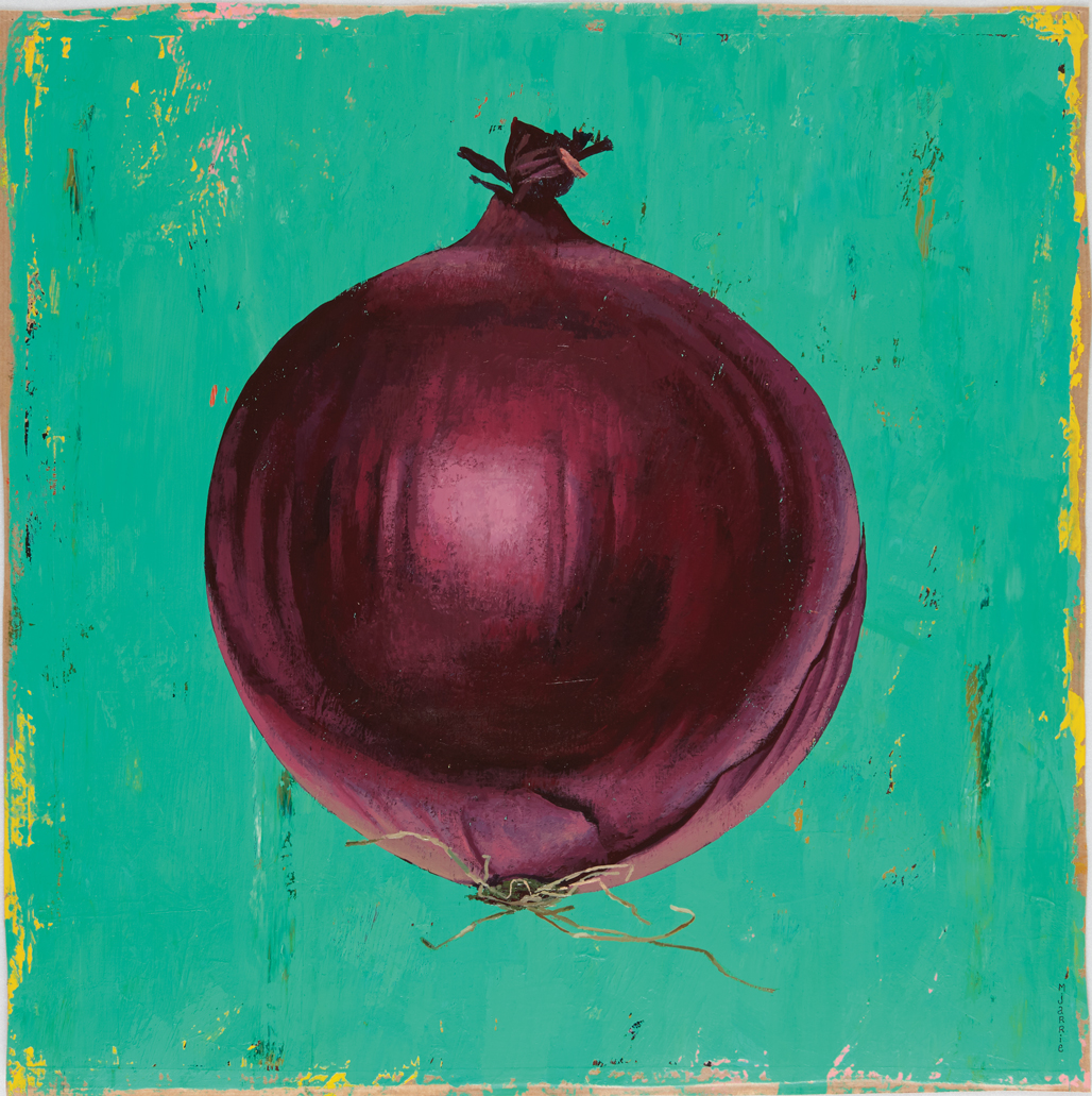 martin jarrie vegetable portrait red onion, rode ui