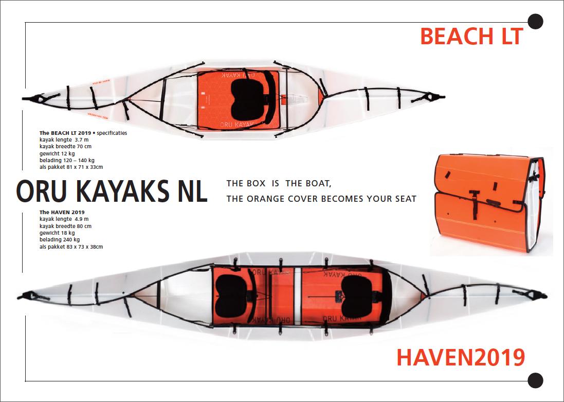 Overzicht Oru Kayaks met open cockpit