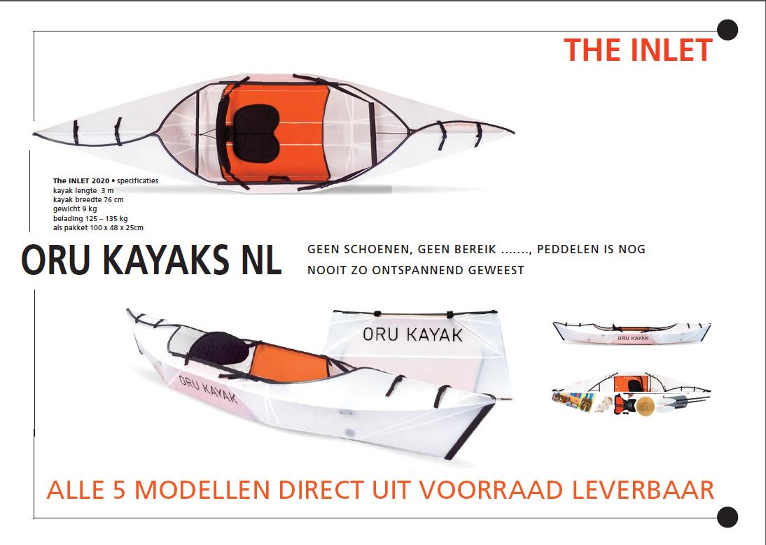De sensationele INLET kayak van ORU, een verrassend lichtgewicht